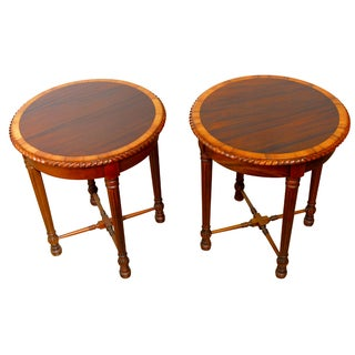 Regency Mahogany Side Tables - Pair
