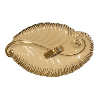 Gold & Cream Porcelain Dish