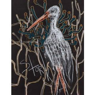 Alex K. Mason The Stork White Bird Print