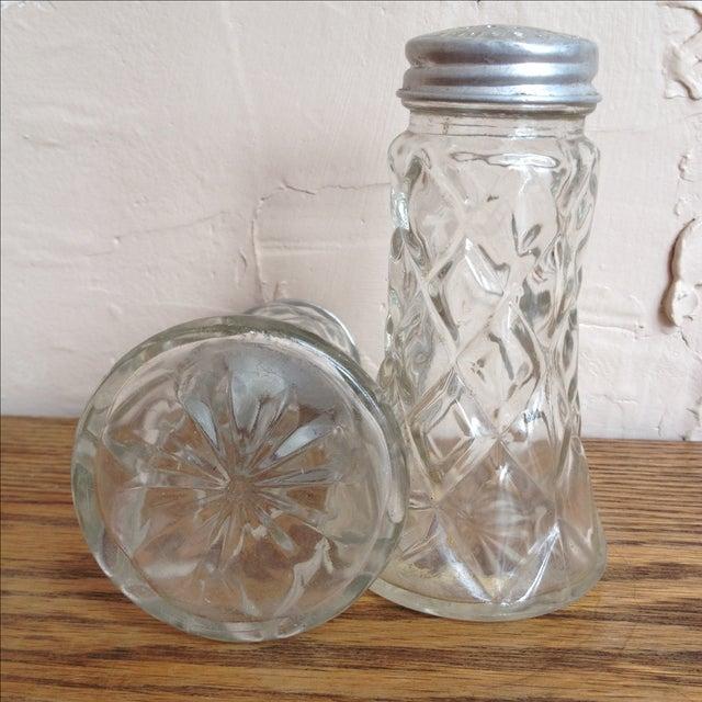 Glass Salt and Pepper Shakers w/ Aluminum Lids - Image 3 of 8