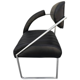 Whimsical Memphis Style Asymmetrically Armed Side Chair