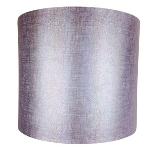 Silver Metallic Drum Lamp Shade