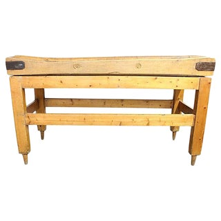 English Butcher Block Table Stand