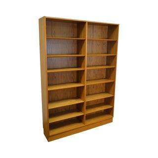 Danish Modern Teak Large Open Bookcase