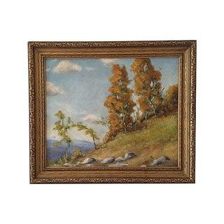 Impressionist Mountain Landscape Oil