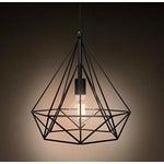 Image of Industrial Style Wrought Iron Diamond Pendant Lamp