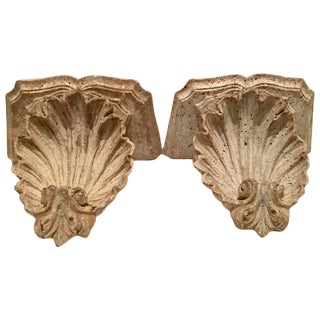 Scallop Shell Corbel Brackets - A Pair