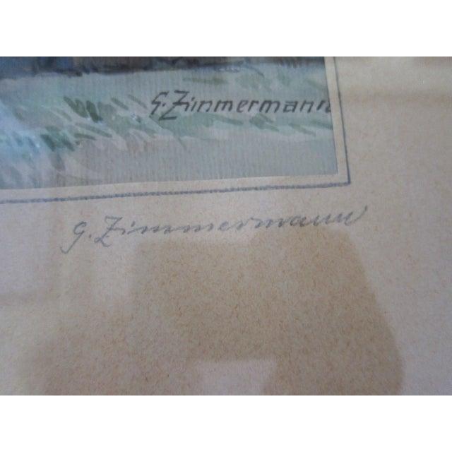 Zimmermann Vintage German Landscape Print - Image 10 of 11
