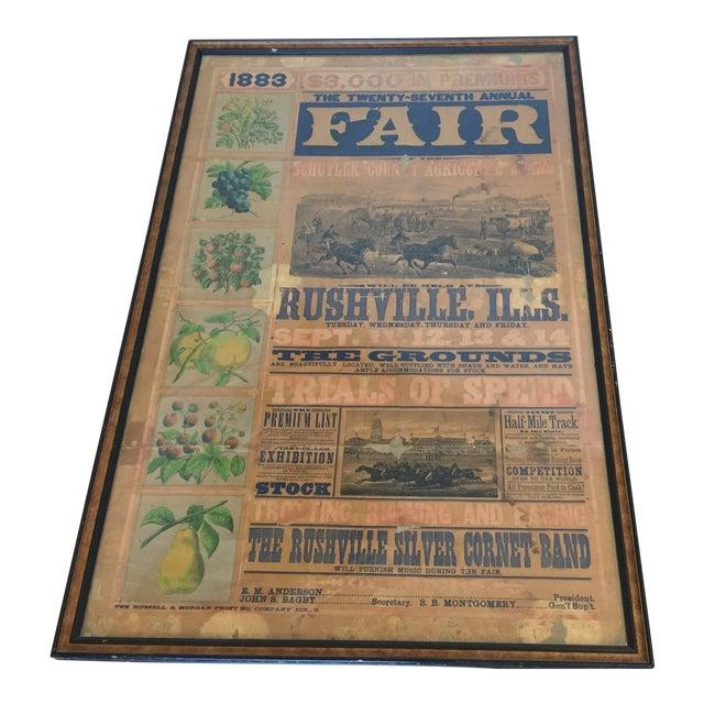 Morgan Printing Co. 1883 County Fair Poster - Image 1 of 11
