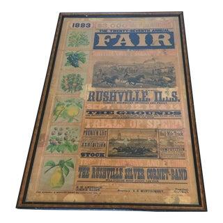 Morgan Printing Co. 1883 County Fair Poster