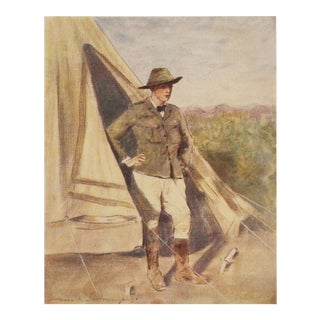 1901 Lithographic Portrait of Young Winston Churchill by M.Menpes
