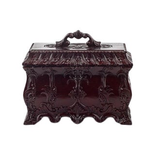 Mahogany Hand-Carved Jewelry Box