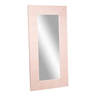 Blush Snakeskin Leather Mirror
