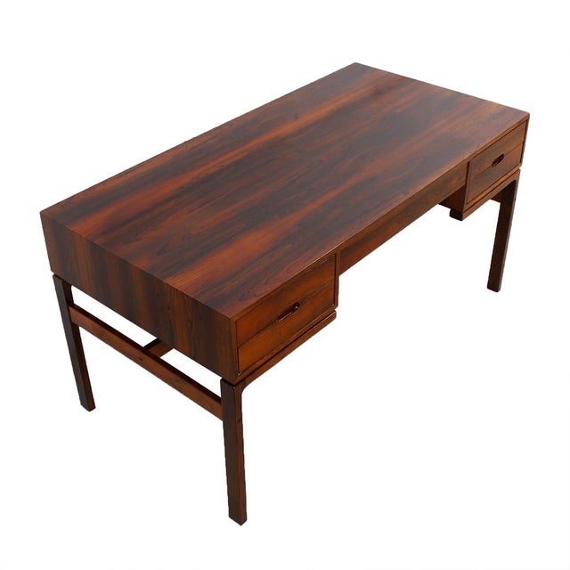 Danish Modern Rosewood Desk by Arne Wahl Iversen - Image 1 of 7