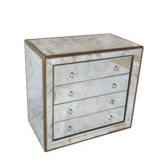 Mirrored Chest of 4 Drawer Cabinet/Dresser