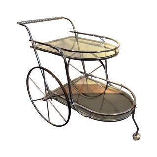 Vintage Chrome & Glass Bar Cart