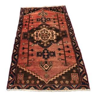 Vintage Persian Hamadan Rug - 3'3 x 6'2