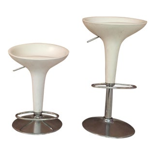 Adjustable Swivel Barstools - a Pair