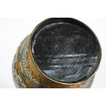 Image of Asian Champleve Brass Floral Vase