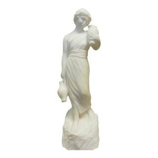White Alabaster Statue