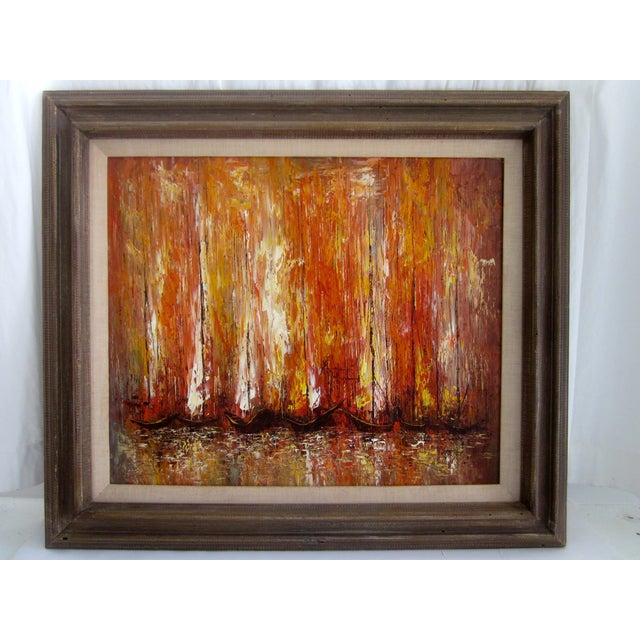 Modernist Abstract Painting - Cityscape/Waterscape - Image 2 of 11