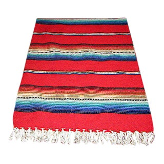 Colorful Mexican Serape Blanket