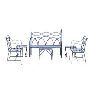 Regency Winterthur Wrought Iron Garden Set