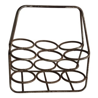 Vintage Bottle Carrier Rack