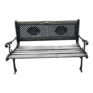 Victorian Wood & Cast Iron Bench