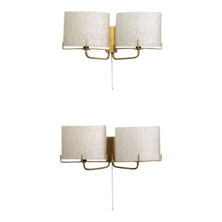 Pair of Swedish Modern Two-Light Wall Sconces, Carl Fagerlund for Orrefors