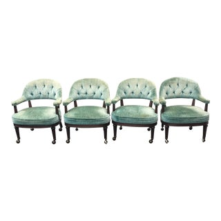 Tufted Vintage Game Chairs - Set of 4