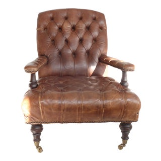 Victorian Style Leather Chair