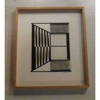 Abstract Black and White Collage by Artist Giancarlo Caporicci, Italy