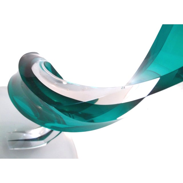 Haziza Lucite Oval Side Table - Image 2 of 5