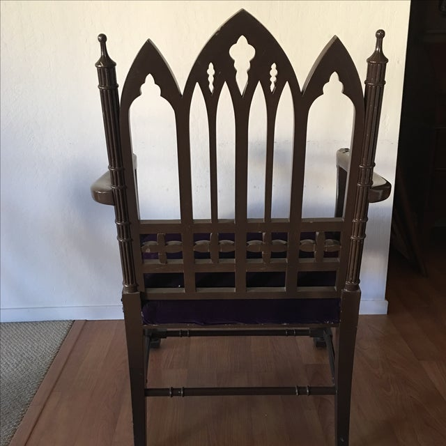 Gothic Arm Chair - Image 5 of 8