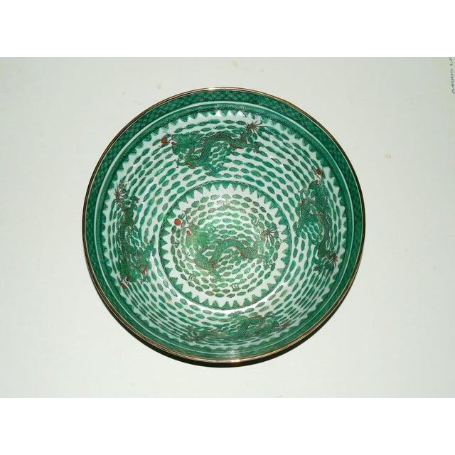 Mammoth Chinese Emerald Dragon Bowl - Image 3 of 7