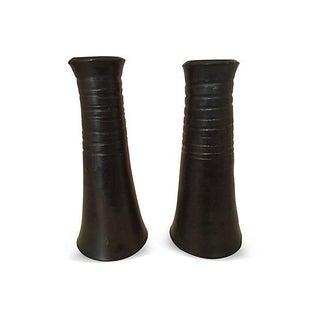 Midcentury Danish Stoneware Candleholders - A Pair