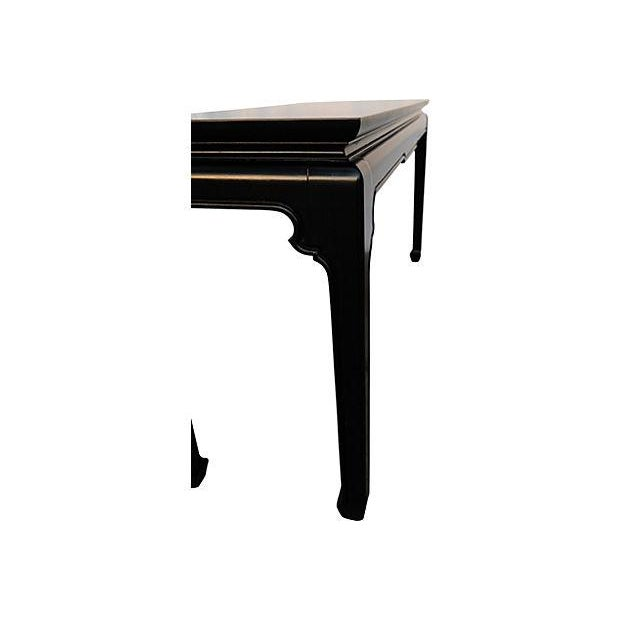 Image of Black Chinoiserie-Style Console Table