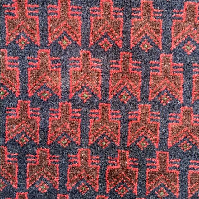 "Red Baluchi Persian Rug - 2'10"" x 4'4"" - Image 4 of 8"