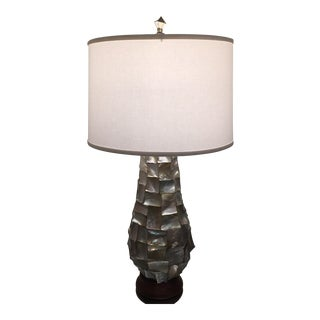 Sculptured Mother of Pearl Lamp