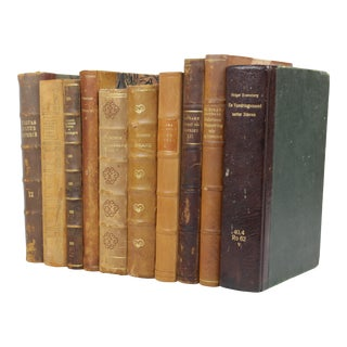 Leather Bound Books - Set of 10