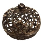 Image of Antique Silver Caged Box