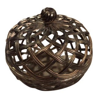Antique Silver Caged Box