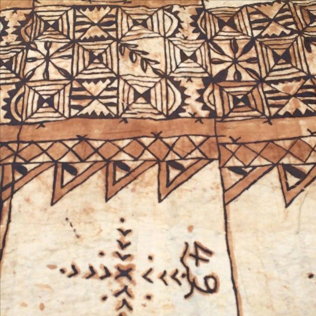 Tapa Cloth Wall Hanging - Image 5 of 10