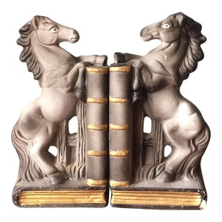 Japanese Equestrian Bookends - A Pair