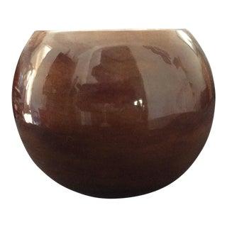 Arnels Brown Glazed Bowl