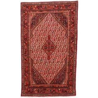 "RugsinDallas Vintage Hand Knotted Persian Jozan Rug-4'3"" X 7'3"""