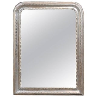 French Silver Leaf Louis-Philippe Mirror from the Turn of the Century
