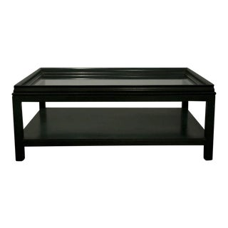 James Mont Evergreen Rectangular Cocktail Table