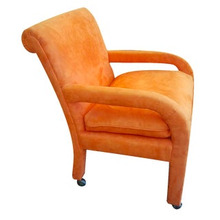 Vintage Velvet Orange Office Chair